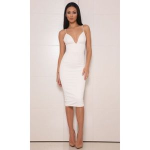 Abyss White City Lights midi dress XS